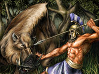 What was the animal that Hercules had to capture in Crete