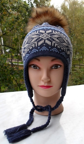 Вязание скандинавской шапочки