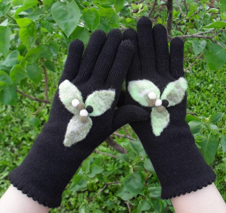 Как своими руками украсить перчатки своими руками 134